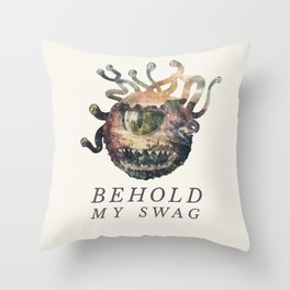 Beholder (Typography) Throw Pillow