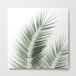 Olive Green Palm Leaves Dream - Cali Summer Vibes #1 #tropical #decor #art #society6 Metal Print