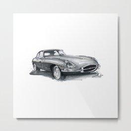 Jaguar E-Type. Metal Print