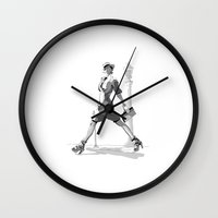 gemma correll Wall Clocks featuring Gemma Ward by nineyoonjung