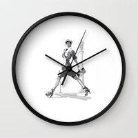 gemma Wall Clocks featuring Gemma Ward by nineyoonjung