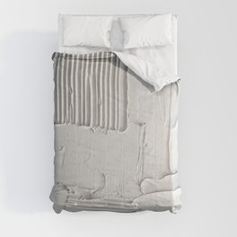 Relief [3]: an abstract, textured piece in white by Alyssa Hamilton Art  Comforters