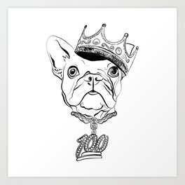 The Notorious D.O.G.  Aka Doggy Smalls. - 751.2 Art Print