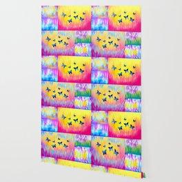 Rainbow Butterflies Wallpaper