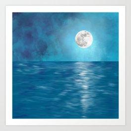 Mar Luna + Donation for Marine Conservation Art Print