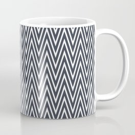 Elegant grey chevron pattern Coffee Mug