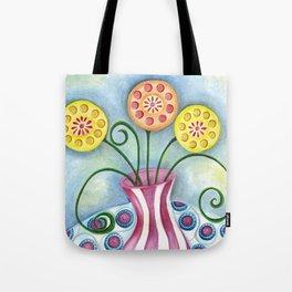Lollipop Flowers Tote Bag