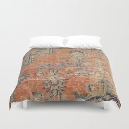 Vintage Woven Navy and Orange Duvet Cover