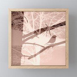Bird tree Framed Mini Art Print
