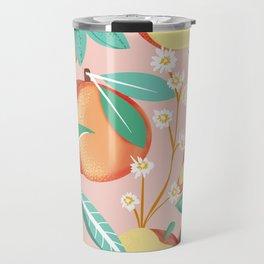 Peach Season #botanical #pattern Travel Mug