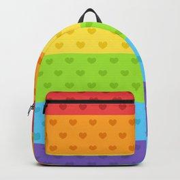 Gay Pride Hearts Backpack