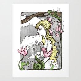 Beauty in the Garden Art Print
