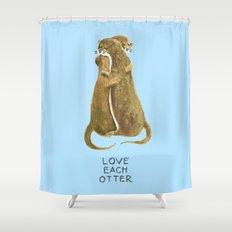 Love each otter Shower Curtain