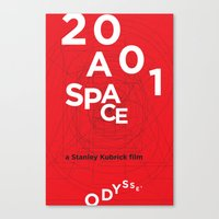 2001 a space odyssey Canvas Prints featuring 2001: a space odyssey by Rodrigo Müller