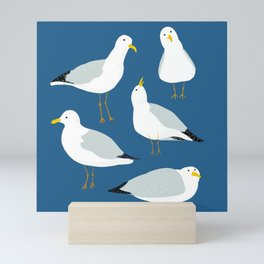 Cute Seagulls Mini Art Print