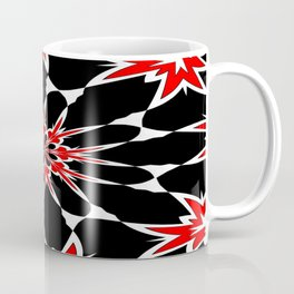 Bizarre Red Black and White Pattern 3 Coffee Mug