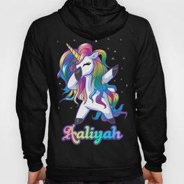 AALIYAH Name Personalized Custom Rainbow Unicorn Dabbing Hoody