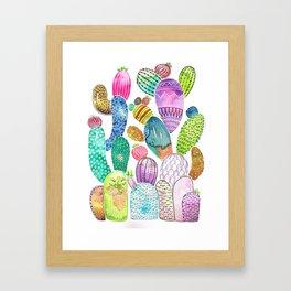 Cactus King Framed Art Print