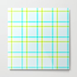 Summery Plaid Metal Print