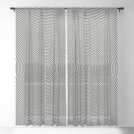 Dizzy Thin Rings Sheer Curtain