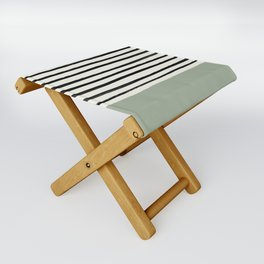 Sage Green x Stripes Folding Stool