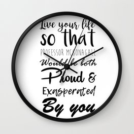 McGonagall Motto Wall Clock