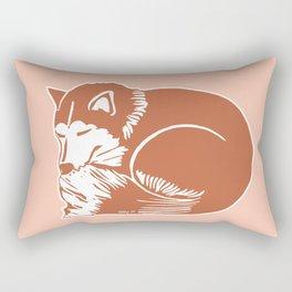 Sleeping Copper Brown Husky Rectangular Pillow