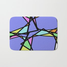 Stain Glass Window - Pastel, Abstract, Irregular Pattern Bath Mat