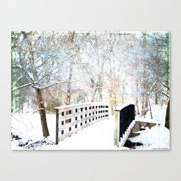 Snowy Winter Trail Canvas Print