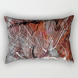 RED ARCHETYPAL STRUCTURES Rectangular Pillow