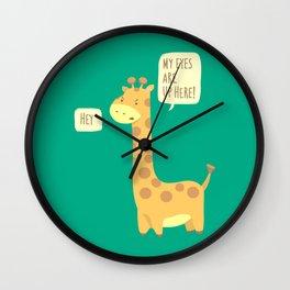 Giraffe problems! Wall Clock