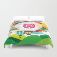 balloon Duvet Covers featuring Balloon by JS Creative