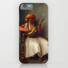 "Jean-Léon Gérôme ""The mandolin player"" iPhone Case"