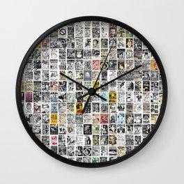 Punk Show Flyers Wall Clock