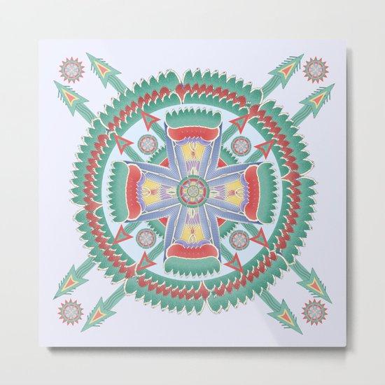 Four Winds Mandala Metal Print