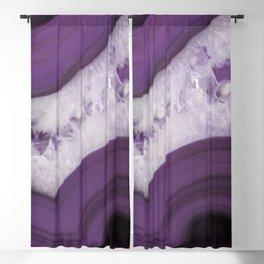 Purple Agate Slice Blackout Curtain