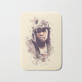 50 Cent splatter painting Bath Mat