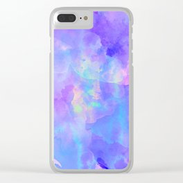 Abstract watercolor colorful painting Clear iPhone Case