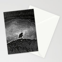 The Crow BW Stationery Cards