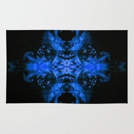 Blue Fire Dragons Rug
