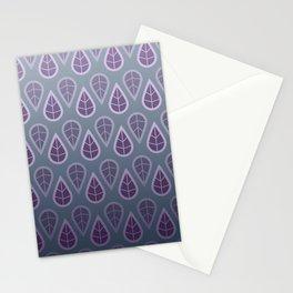 leafy pattern purple Stationery Cards