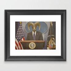 President Ram Framed Art Print