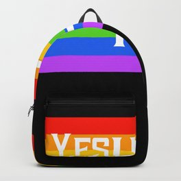 Gay Pride Rainbow Flag Backpack