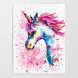 Pink Unicorn Poster