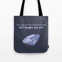 ouat Tote Bags featuring Swan Queen Quote (OUAT) by CLM Design