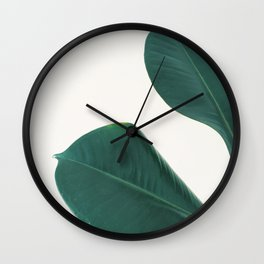 Rubber Fig Leaves I Wall Clock