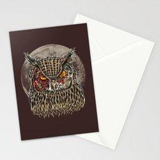Zombie Owl Stationery Cards