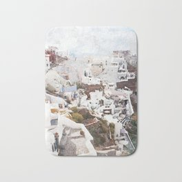 Santorini Greece Bath Mat