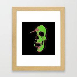 Skull - Neon Framed Art Print