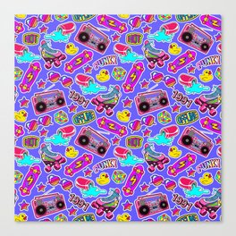 Back to the nineties! Blue Canvas Print